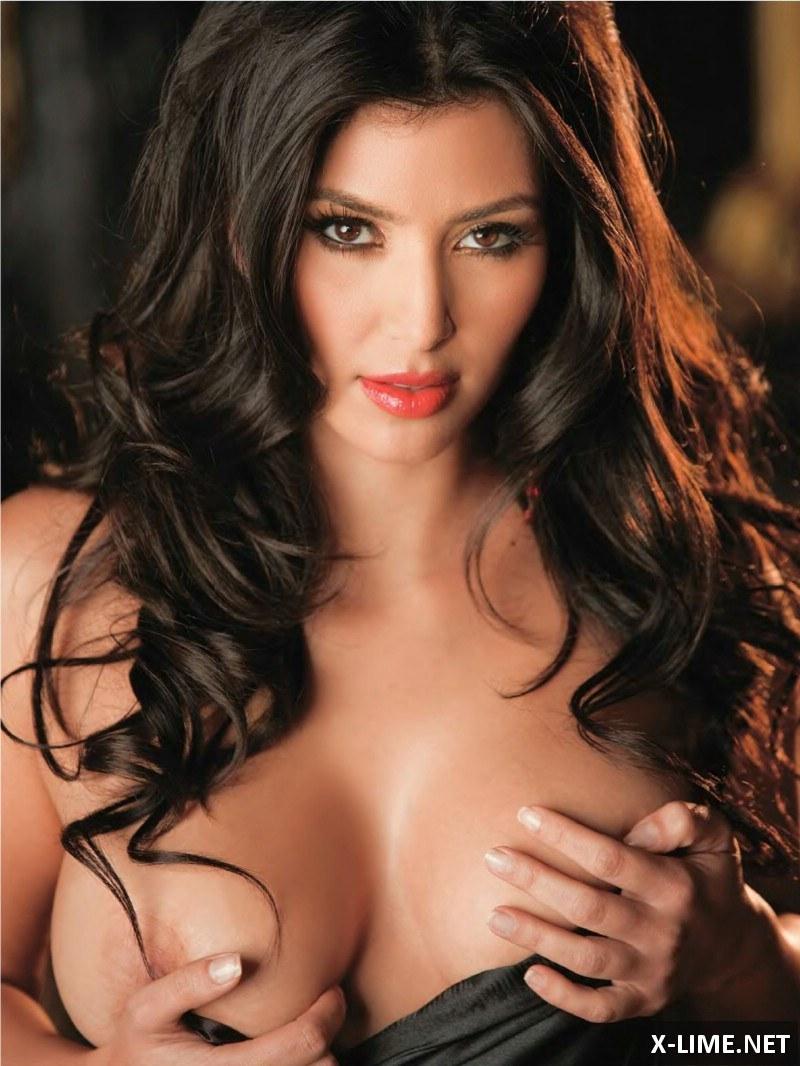 Голая Ким Кардашян в эротической фотосессии PLAYBOY
