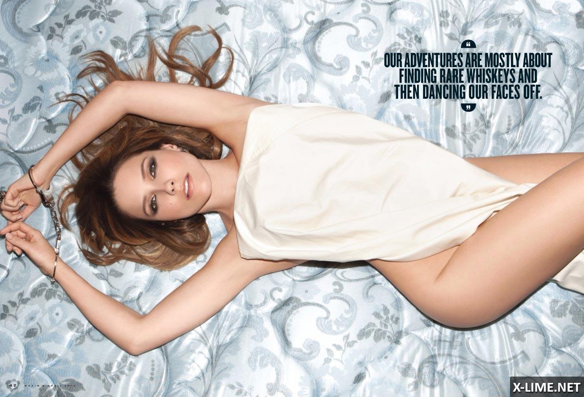 Голая София Буш в эротической фотосессии MAXIM
